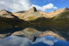 Ice湖镜子日出 库存照片