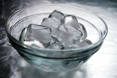 Ice. Water are sleeping. will be melted into water Royalty Free Stock Image