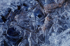 Ice. The ice, the frozen water, ice pattern Royalty Free Stock Images