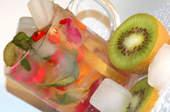 Ice. Vegetables in the ice cube Royalty Free Stock Image