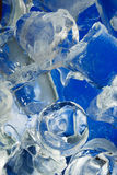 Ice. Fresh colored blue ice close-up Royalty Free Stock Image