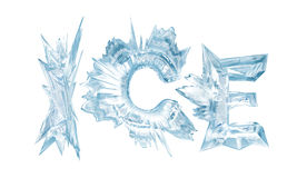 Ice. Crystal letters. The Word Stock Photography