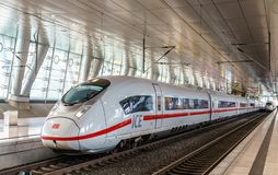 Free ICE 3 High-speed Train At Frankfurt Airport Long-distance Station. Germany Stock Photography - 125990352