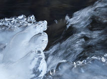Ice. Piece of ice above water Stock Image