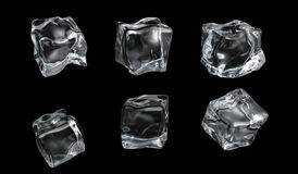 Ice. Cool ice on black background Royalty Free Stock Images