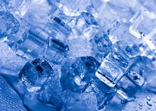 Ice. Can refer any of the 14 known solid phases of water. However, in non-scientific contexts, it usually describes  Ih, which is the most abundant of these Royalty Free Stock Photo