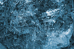 Ice. Texture of ice crystals Stock Photos
