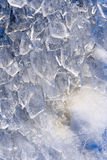 Ice. Broken ice at winter lake Royalty Free Stock Photography