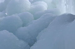 Ice. Blocks of ice which thaws. It is photographed in the end of winter Stock Image