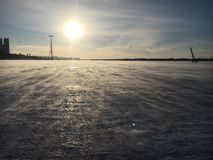 Ice湖 免版税库存照片