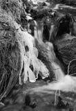 Ice above the stream Stock Photo