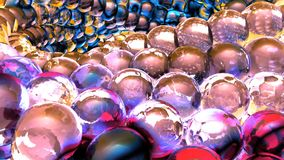 Ice abstract spheres rotating in slow motion. 3D rendering. Ice abstract spheres rotating in slow motion Stock Image