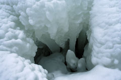 Ice abyss Stock Photography