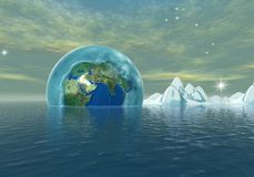 The ice age. Environmental catastrophe - digital artwork Royalty Free Stock Photography