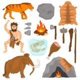 Ice age color flat icons set. Isolated on white royalty free illustration