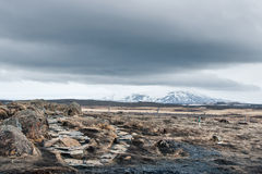 Ice age landscape from Iceland Royalty Free Stock Image