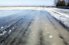 Ice on agricultural field Royalty Free Stock Images