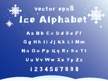 Ice alphabet Stock Image