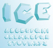 Ice alphabet Royalty Free Stock Photography