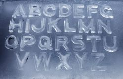 Ice Alphabet Royalty Free Stock Photos
