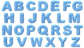Ice alphabet royalty free illustration