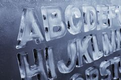 Ice Alphabet Royalty Free Stock Photo