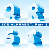 Ice alphabet. Part 5 Royalty Free Stock Photos