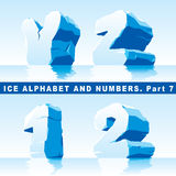 Ice alphabet Part 7 and numbers Part 1 Stock Photos