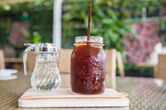 Ice americano coffee Royalty Free Stock Images