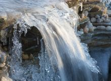Free Ice And Water On A Cascade Stock Image - 107428521