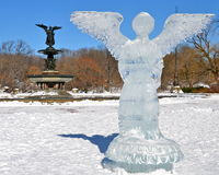 Ice angel in Central Park, New York. Stock Photography