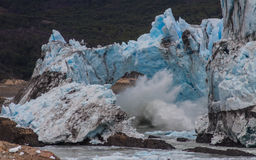 Ice Archway collapsing, Perito Moreno Glacier, Argentina stock images