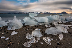 Ice on the Arctic beach - landscape Royalty Free Stock Images