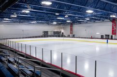 Ice Arena Interior in Inver Grove Heights Stock Photography