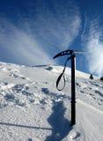 Ice axe on winter Royalty Free Stock Photo