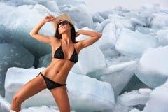 Ice babe. Stock Photos