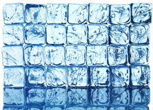 Ice background. Ice blue background from cubes Royalty Free Stock Image