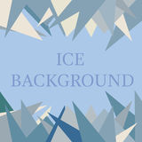 Ice background in blue color. Ice background with different triangles in blue color Stock Images