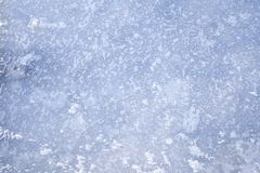 Ice background of frozen lake with patterns. Ice background blue of frozen ice with nice pattern in it Royalty Free Stock Photography