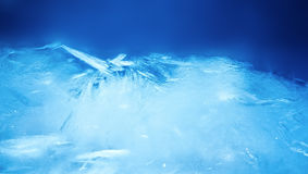 Ice background, blue frozen texture Stock Photo