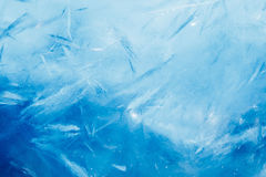 Ice background, blue frozen texture Stock Images