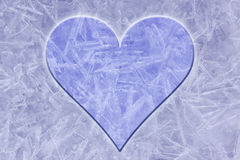 Ice background with heart Royalty Free Stock Photography