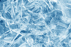 Ice background. ice with different shapes and cracks. Royalty Free Stock Photography