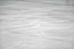 Ice background. With marks from skating and hockey Stock Photos