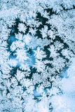 Ice Background, Natural Blue Frosty Pattern Royalty Free Stock Photography
