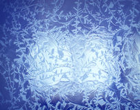 Ice the background texture pattern frost Stock Images