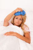 Ice bag for headaches and migraines Stock Photography