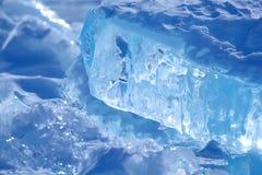 Ice of Baikal Stock Photo