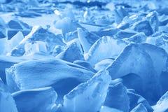 Ice of Baikal Stock Image