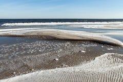 Ice at Baltic sea coast. Royalty Free Stock Photos